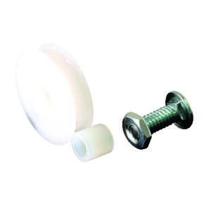 Prime-Line  1-1/4 in. Dia. x 1/3 in. L Nylon  Roller Assembly  2