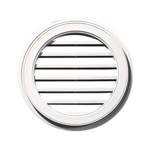 Builders Edge  22 in. W x 22 in. L Wood Grain  White  Plastic  Wall Vent