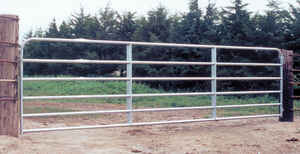 Behlen Country  192 in. L Galvanized  Steel  Utility Tube Gate  1 pk