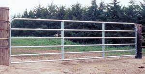 Behlen Country  192 in. L Steel  Galvanized  1 pk Utility Tube Gate