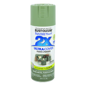 Rust-Oleum  Painter's Touch Ultra Cover  Gloss  Sage Green  Spray Paint  12 oz.