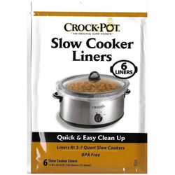 Crock Pot  7 qt. Clear  Plastic  Slow Cooker Liner