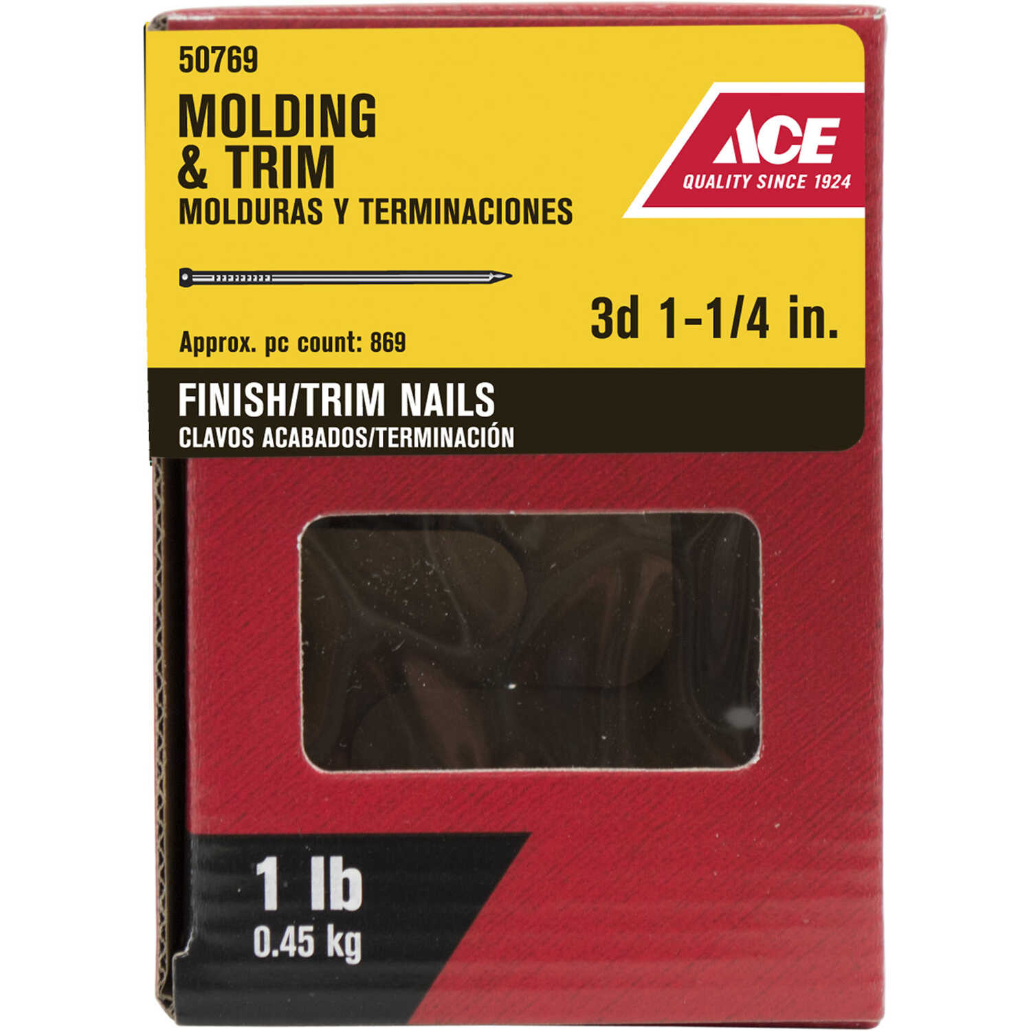 Ace  3D  1-1/4 in. L Finishing  Nail  Brad Head Smooth Shank  1 lb.