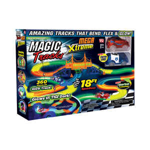Magic Tracks  As Seen On TV  Glow Toy Race Track  Plastic  Multi-Colored  360 pc.