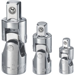 Craftsman  1/4, 3/8 and 1/2 in. drive  Universal Joint Set  3 pc.
