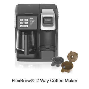Hamilton Beach  FlexBrew  10 oz. to 12 cups Black  Coffee Maker