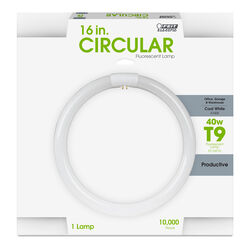 FEIT Electric  40 watt T9  16 in. L Fluorescent Bulb  Cool White  Circular  4100 K 1 pk