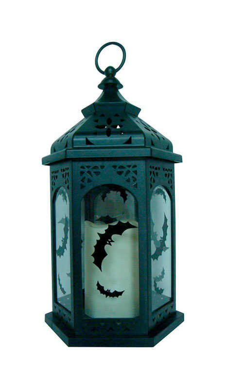 Sylvania  Lantern with Bats  Lighted 14.5 in. H x 14 in. L x 3 in. W Halloween Decoration  1 pk