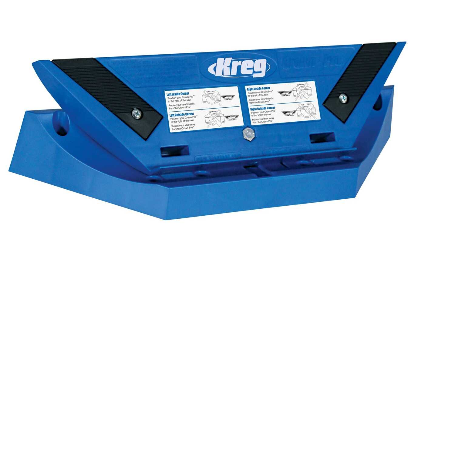 Kreg Tool  Crown-Pro  Plastic  Jig with Angle Finder  1/2 in. to 5-1/2 in. Blue  1 pc.