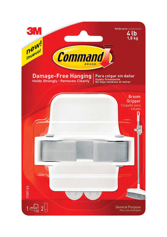 3M  Command  Large  Gripper  3-1/3 in. L Plastic  1 pk