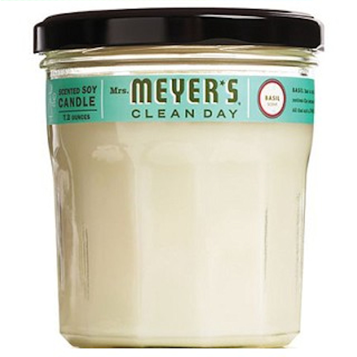 Mrs. Meyer's  Clean Day  Basil Scent 7.2 oz. Wax  Air Freshener Candle  Ivory  Soy  3.8 in. H x 2.9