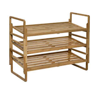 Honey Can Do  23 in. H x 13 in. W x 30.25 in. L Bamboo  3-Tier Rack  1 pk