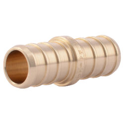 SharkBite  1/2 in. PEX   x 1/2 in. Dia. PEX  Brass  Coupling
