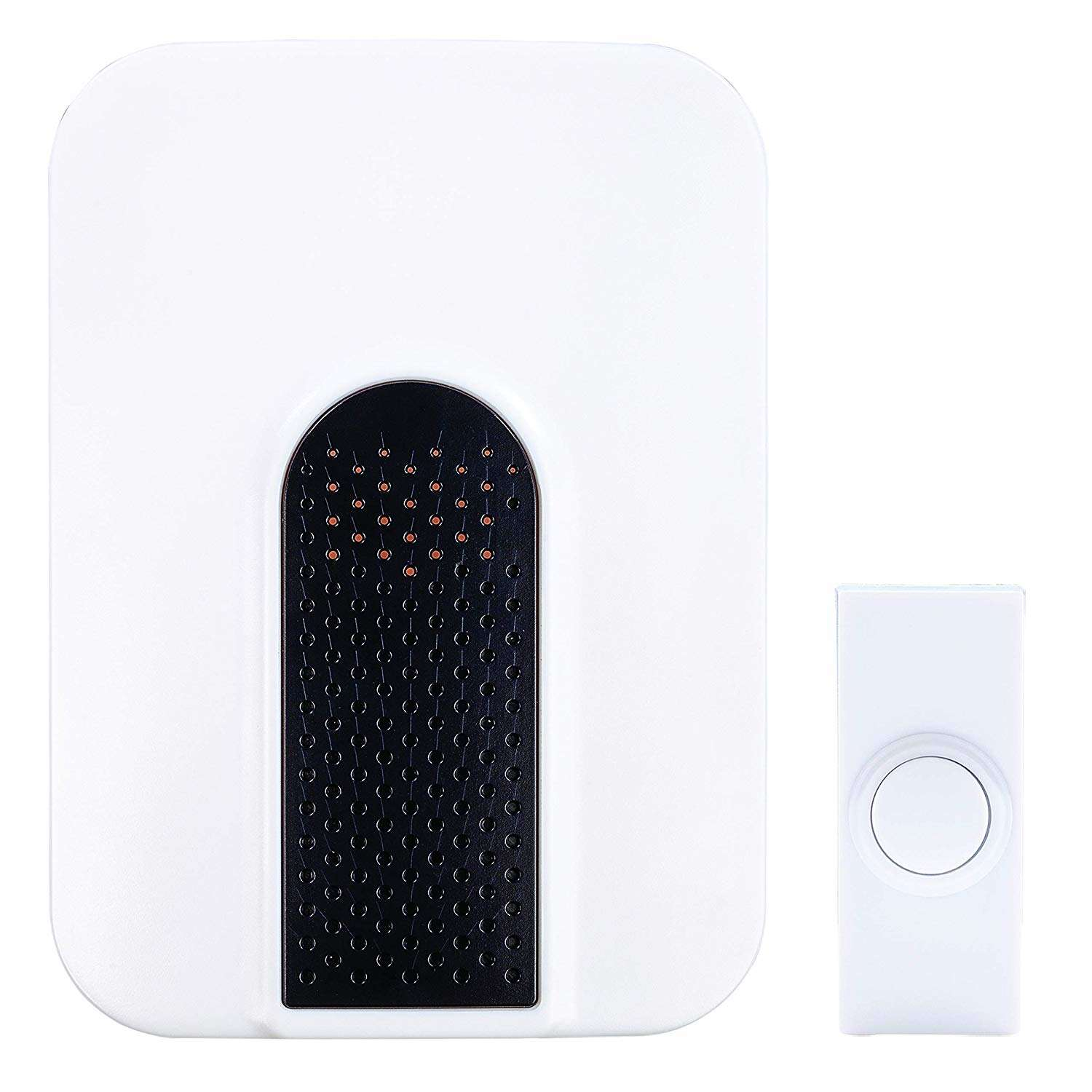Heath Zenith  Black/White  Plastic  Wireless  Door Chime Kit