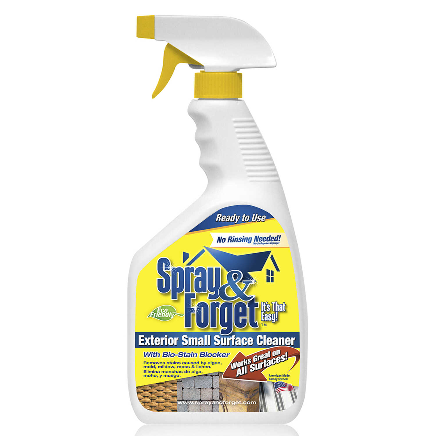 Spray & Forget  Citrus Scent Exterior Stain Remover  32 oz. Liquid