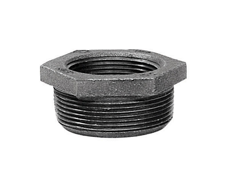 Anvil  1 in. MPT   x 3/4 in. Dia. FPT  Black  Malleable Iron  Hex Bushing
