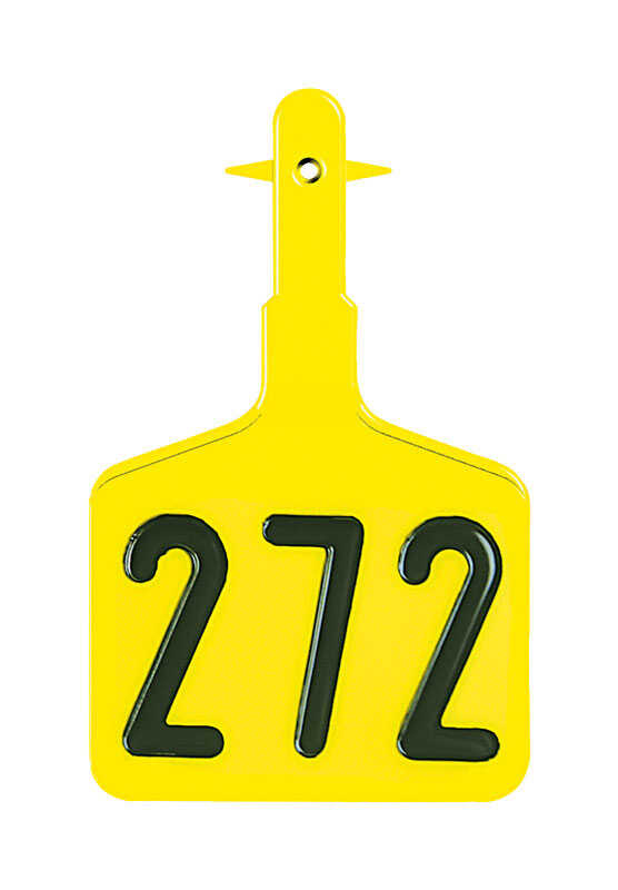 Y-Tex  Large Numbered  Plastic  1-Piece Ear Tag