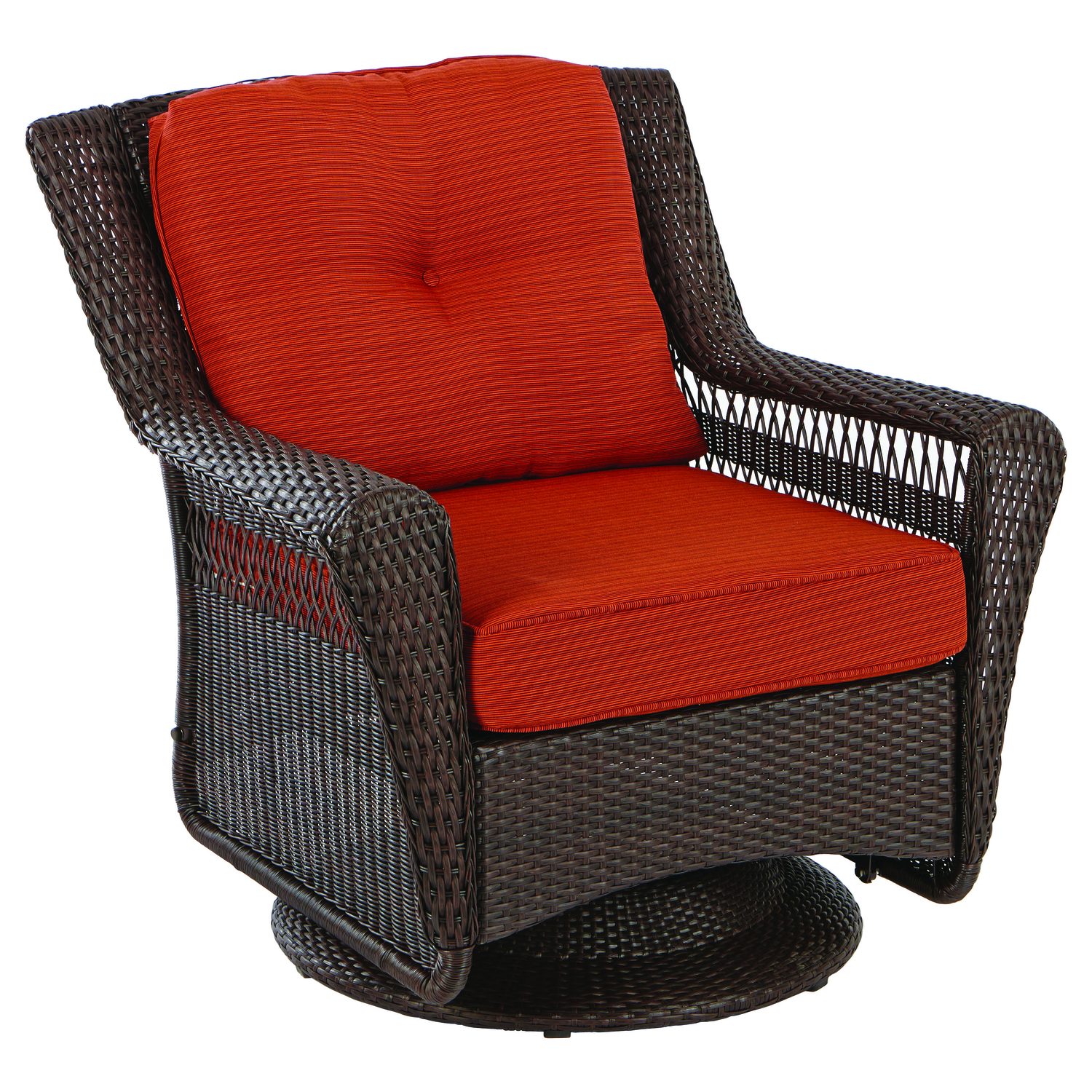 Living Accents  Brown  Wicker  Rocker Chair