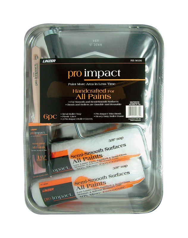 Linzer  Pro Impact  Metal  Paint Tray Set