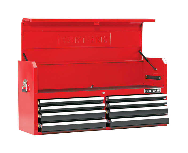 Craftsman  52 in. 8 drawer Steel  Top Tool Chest  24.5 in. H x 18 in. D Red