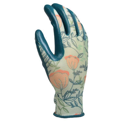 Digz  S  Nitrile  Multicolored  Gardening Gloves