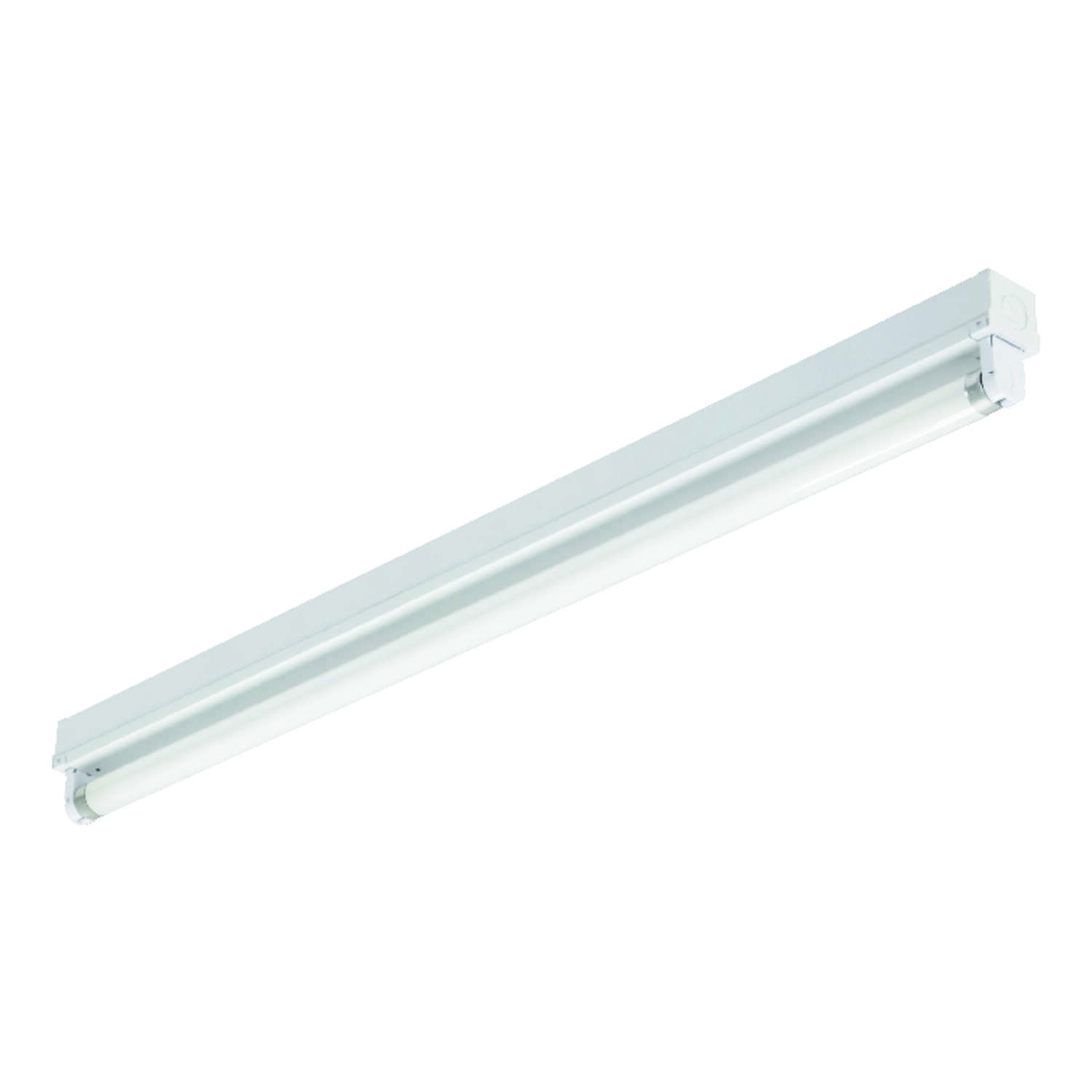 Lithonia Lighting  36.375 in. L White  Hardwired  Fluorescent  Strip Light