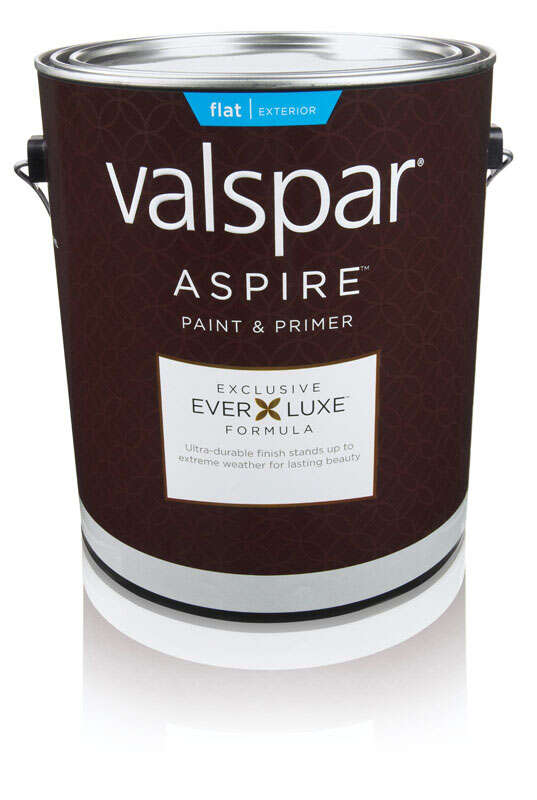 Valspar  Aspire  Flat  White Base  Acylic Latex  1 gal. Basic White  Paint and Primer
