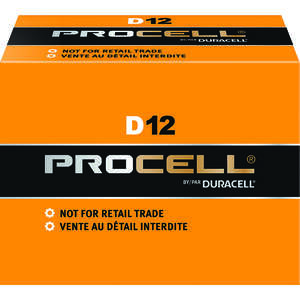 Duracell  ProCell  D  Alkaline  Batteries  1.5 volts Boxed  12 pk