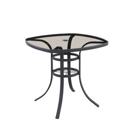 Living Accents Roscoe Square Black Glass Balcony Table