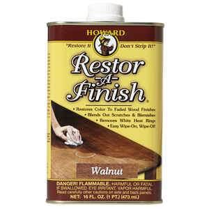 Howard  Restor-A-Finish  Semi-Transparent  Walnut  Wood Restorer  1 pt. Oil-Based