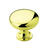 Amerock Allison Round Cabinet Knob 1-1/4 in. Dia. 1-1/8 in. Polished Brass 1 pk