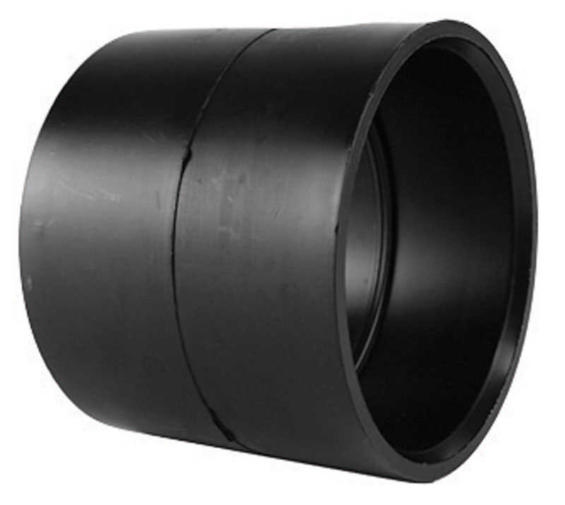 Charlotte Pipe  Schedule 40  1-1/2 in. Hub   x 1-1/2 in. Dia. Hub  ABS  Coupling