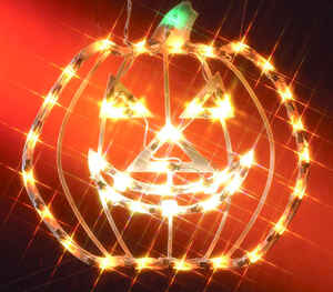Impact Innovations  Small Pumpkin Silhouette  Lighted 14-1/2 in. W Halloween Decoration