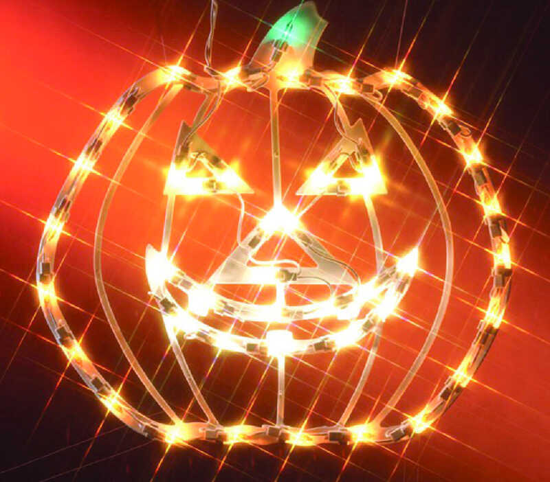 Impact Innovations  Small Pumpkin Silhouette  Lighted Halloween Decoration  14-1/2 in. W