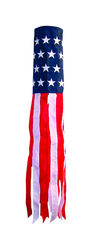 In the Breeze  Stars and Stripes  Windsock  40 in. H x 6 in. W