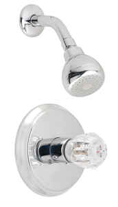 OakBrook  Essentials  Single Handle Shower  1 Knob  Shower Faucet  Chrome  Acrylic
