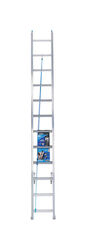 Werner 24 ft. H x 17.33 in. W Aluminum Extension Ladder Type 1 250 lb.