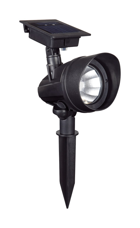 Living Accents  Powered by Duracell  Black  Solar-Powered  0.18 watts LED  Spot Light  1 pk