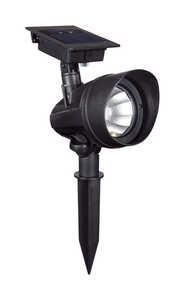 Living Accents  Powered by Duracell  Black  Solar-Powered  0.18 watts Spot Light  LED  1 pk