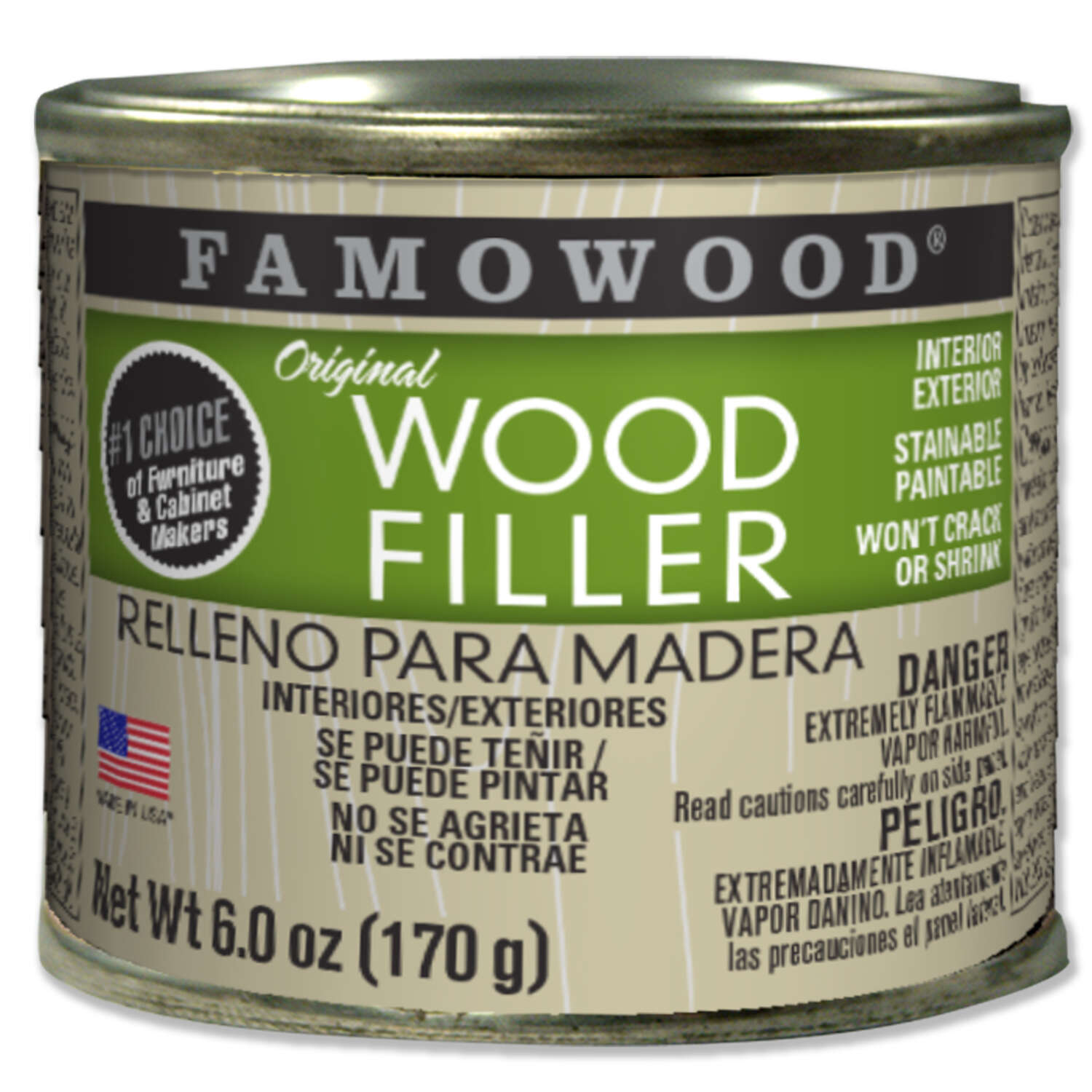 Famowood Oak/Teak Wood Filler 6 oz.