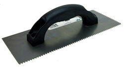 Marshalltown QLT 4 in. W x 9 in. L Steel V Notched Trowel