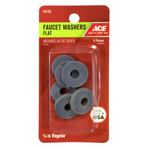 Ace  3/8 in. Dia. Rubber  Faucet Washer  6