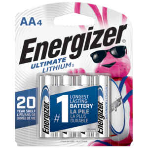 Energizer Lithium Photo Battery AA Clip Strip of 4