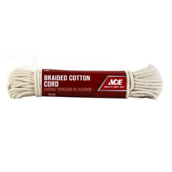 Ace 9/64 in. Dia. x 48 ft. L Natural Braided Cotton Cord