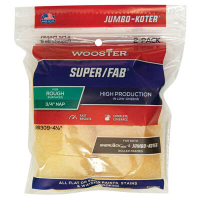 Wooster Super/Fab Knit 6-1/2 in. W x 3/4 in. Mini Paint Roller Cover 2 pk