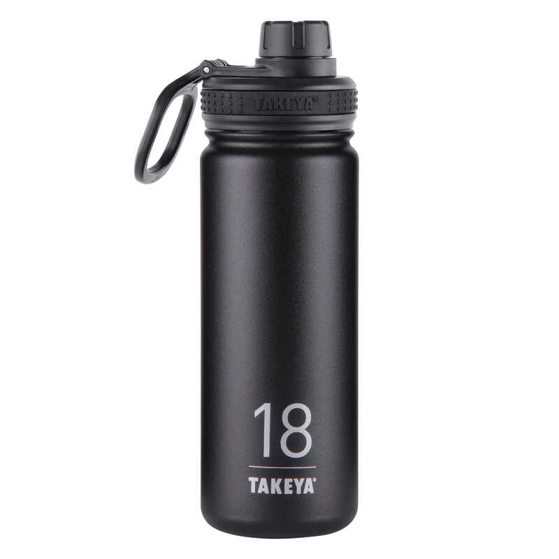 Takeya ThermoFlask  Asphalt  Stainless Steel  Double Wall Tumbler  18 oz. BPA Free