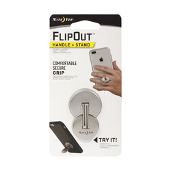 Nite Ize  FlipOut  Silver  Cell Phone Handle and Stand  For All Mobile Devices