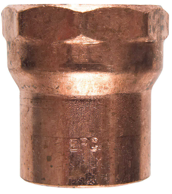 Elkhart  1-1/2 in. Dia. x 1-1/2 in. Dia. Sweat To FIP  Copper  Female Adapter