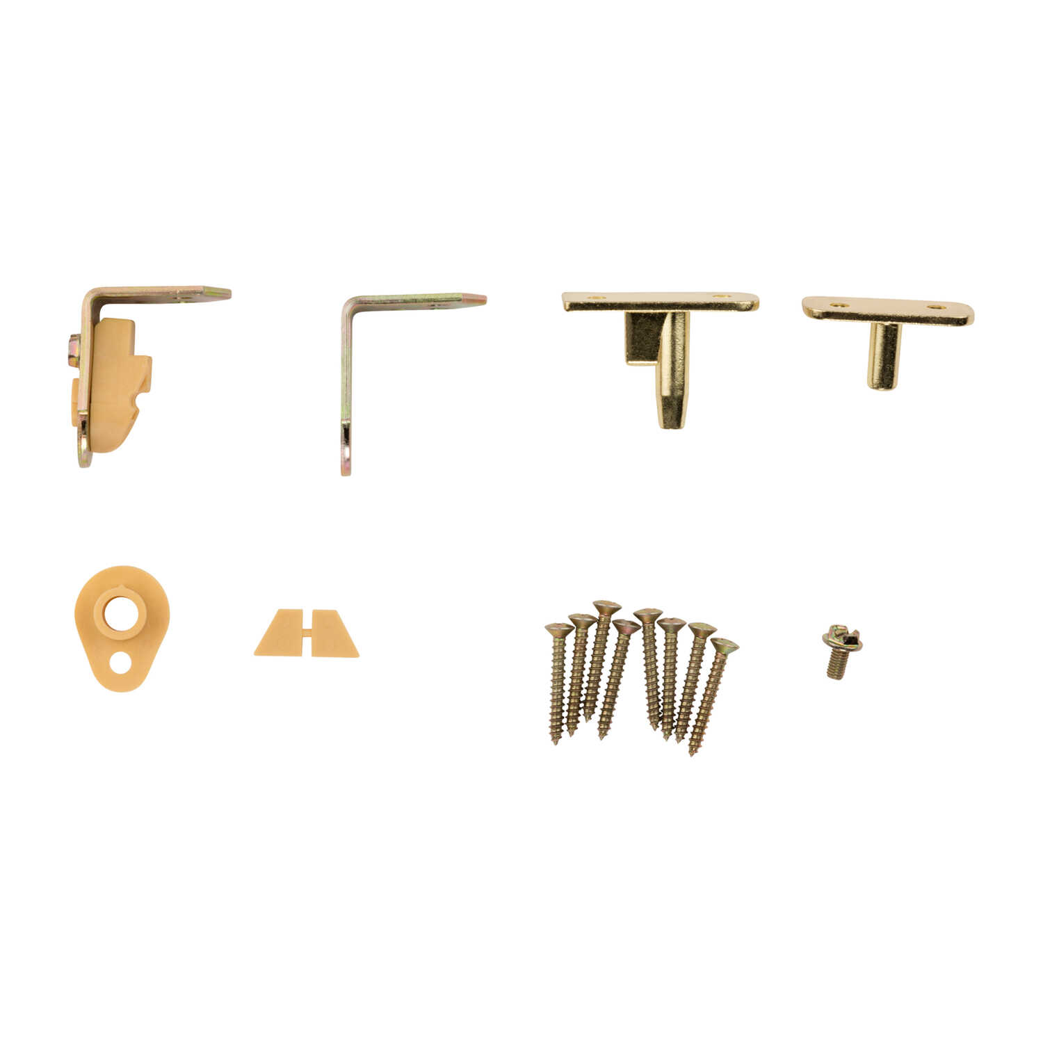 National Hardware  1-1/2 in. L Brass-Plated  Steel  Cafe Door Hinge  1 pk