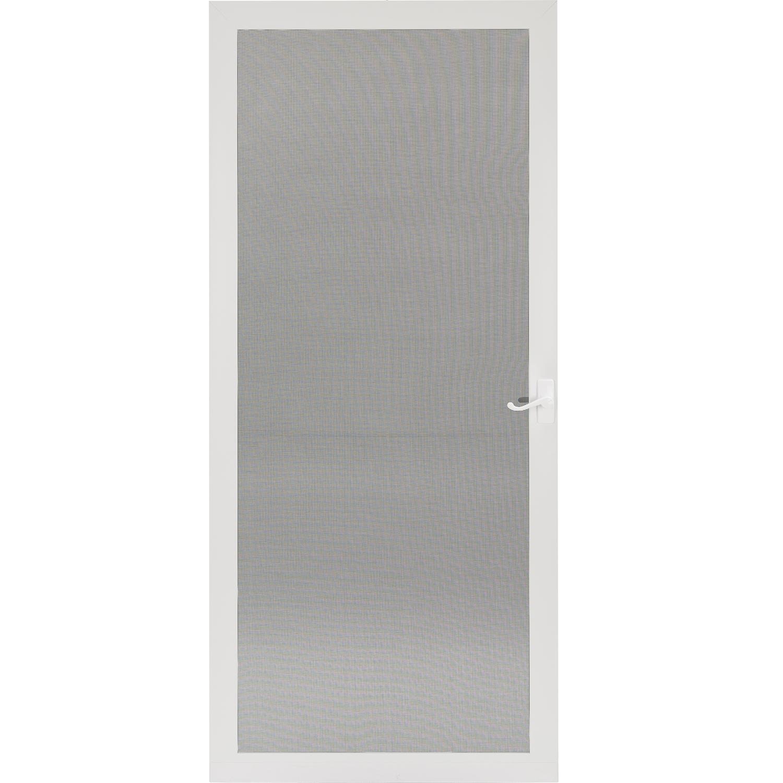Pet Breeze White Aluminum Hinged Screen Door With